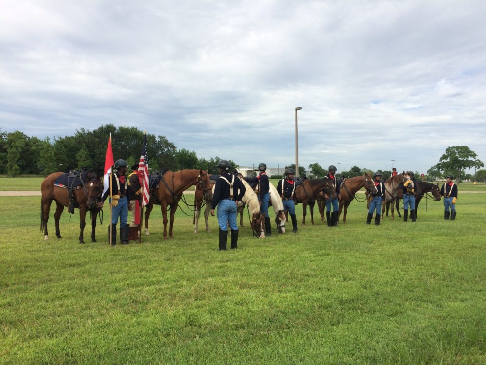 Teenage riders from Pennsylvania taking part in Buffalo Soldiers commemoration at Tom Bass Park