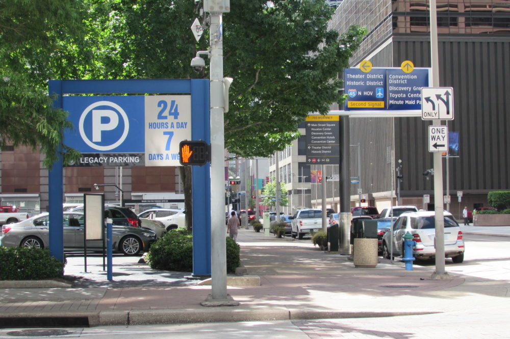 The City of Houston hopes to add dynamic message boards downtown to give real-time info on available parking.