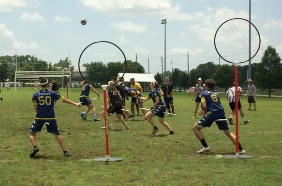 The Major League Quidditch championship match at Hometown Heroes Park in League City. (Photo: Amy Bishop, Houston Public Media)