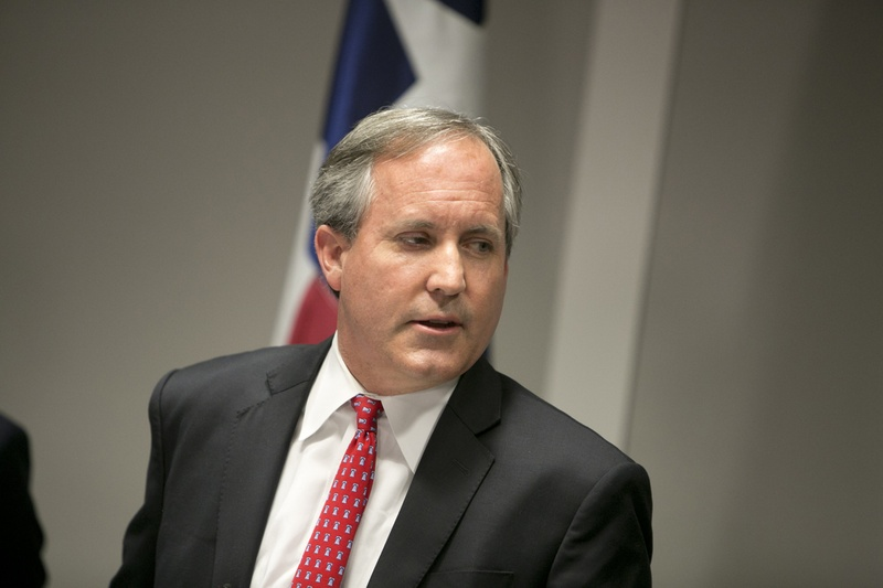Texas Attorney General Ken Paxton during a May 25, 2016, press conference.