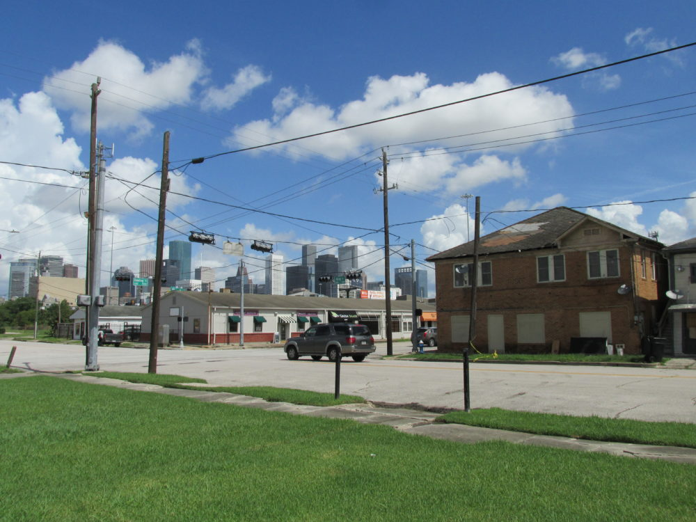 The northern Third Ward lies just southeast of downtown Houston.