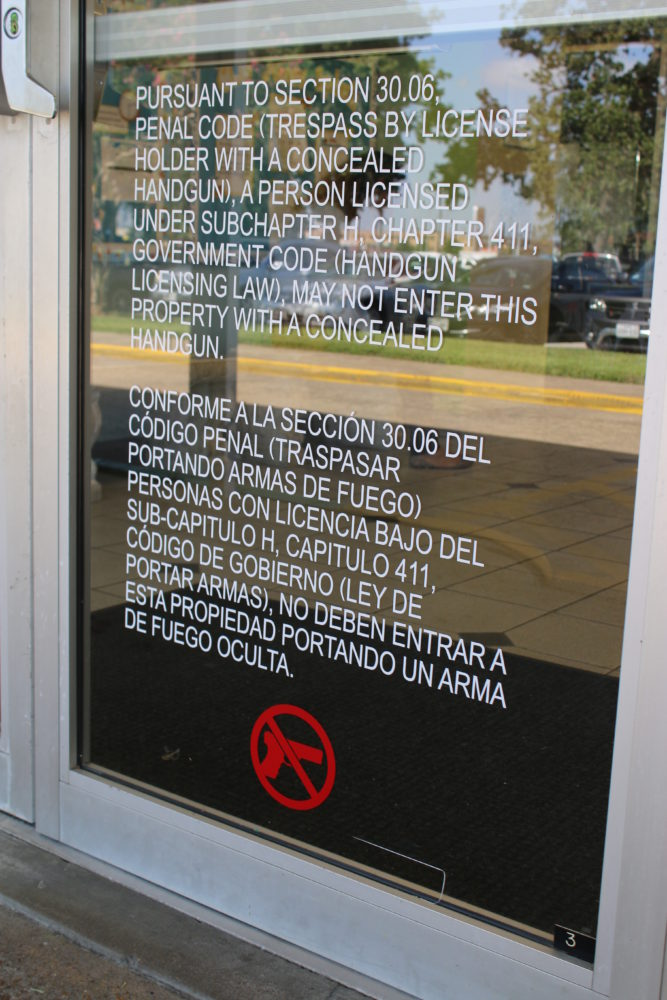 Under the state's campus carry law, university presidents can create gun-free zones, like this day care at the University of Houston.