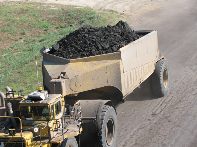 Lignite coal from the mine in Jewett on its way to power plant