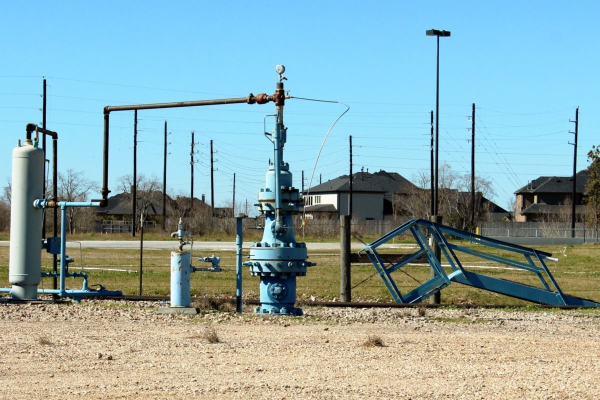Natural gas well near subdivision in Katy