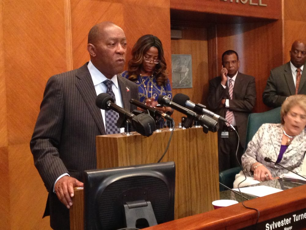 Houston Mayor Sylvester Turner says he wants member of his staff involved in another study about the Houston Fire Department.