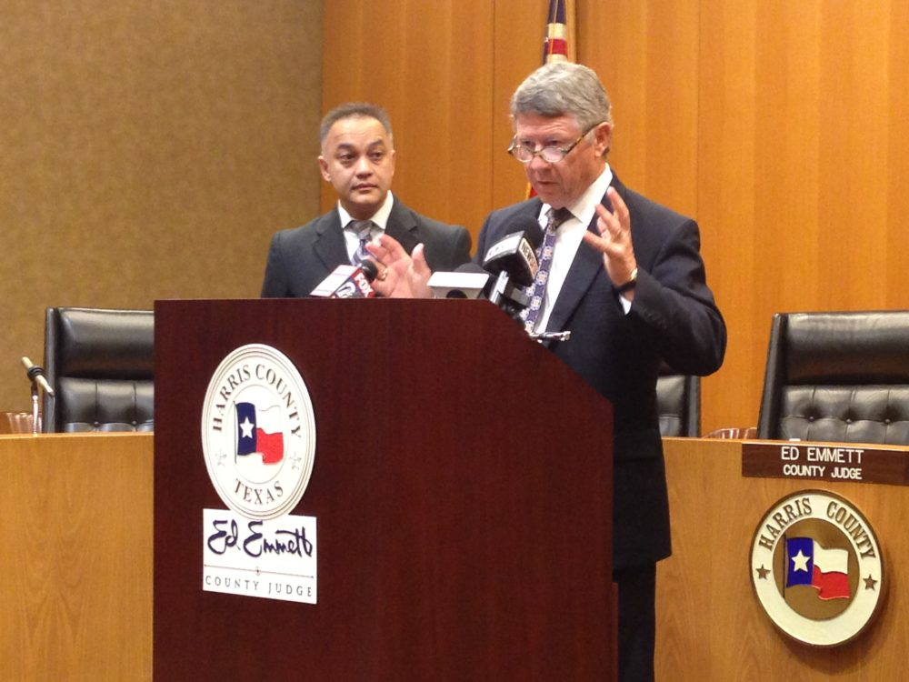 Doctor Umair Shah, executive director of Harris County's Public Health and Harris County Judge Ed Emmett reported that the first Zika-related death registered in Texas happened in Harris County.