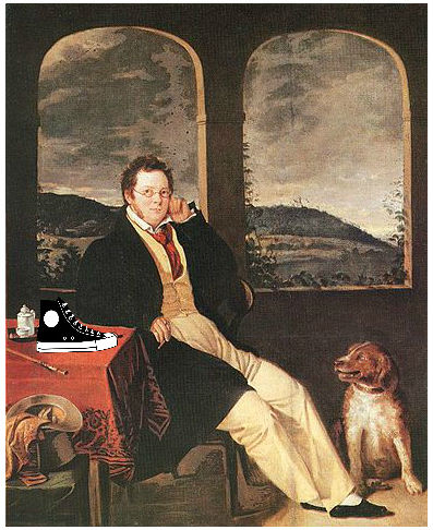 Portrait of a Man (Franz Schubert with Shoe)