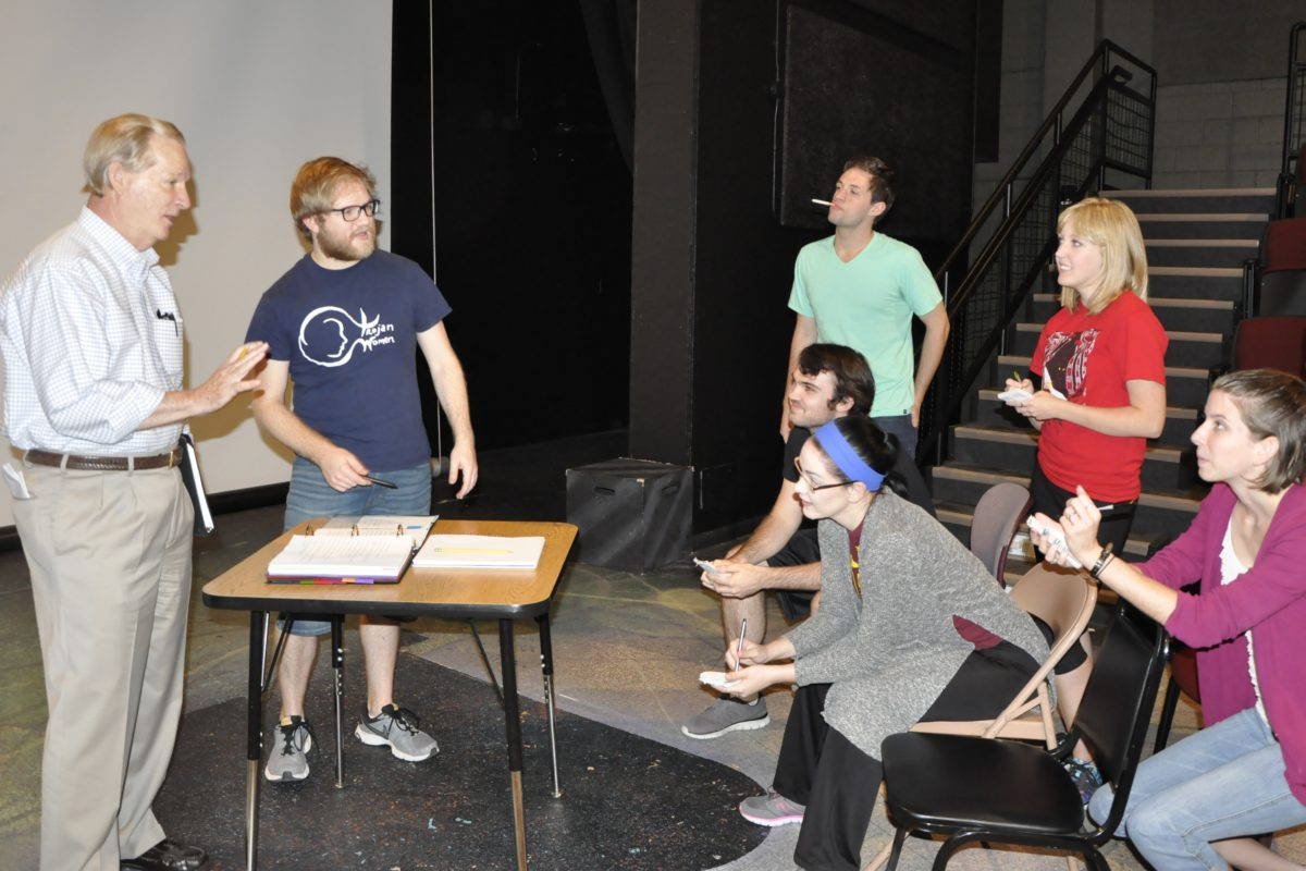 Peter Roussel and cast