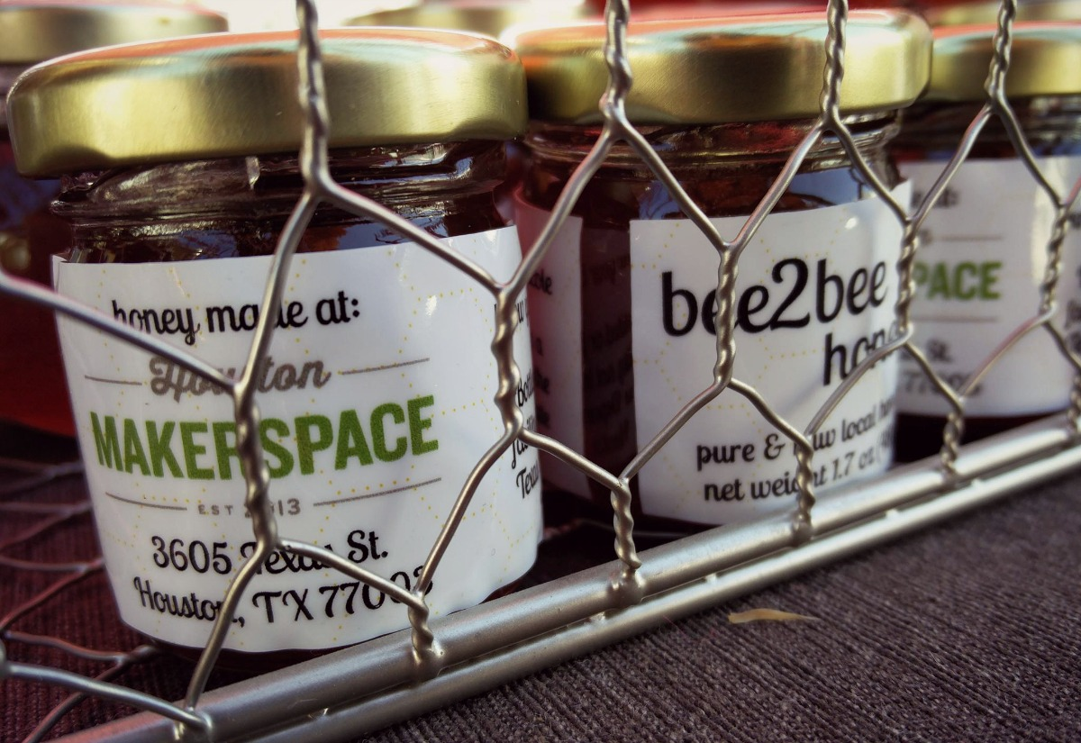 Jars of honey from Houston's Bee2Bee Honey Collective. (Photo via Facebook)