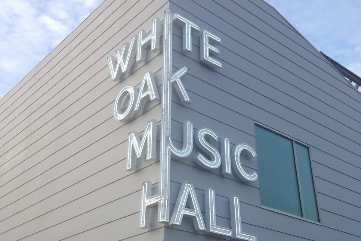 The exterior of Houston's newest indoor/outdoor music venue, White Oak Music Hall. (Photo: Erin Woolsey/White Oak Music Hall)
