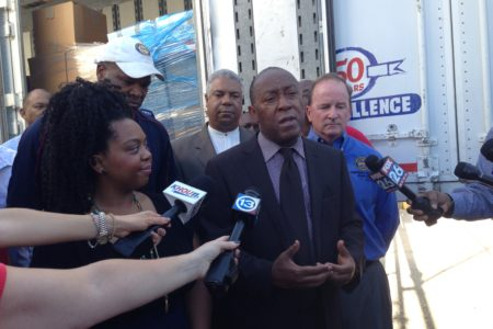 Houston Mayor Sylvester Turner underscored how quickly Houstonians reacted to help the flood survivors in Baton Rouge.