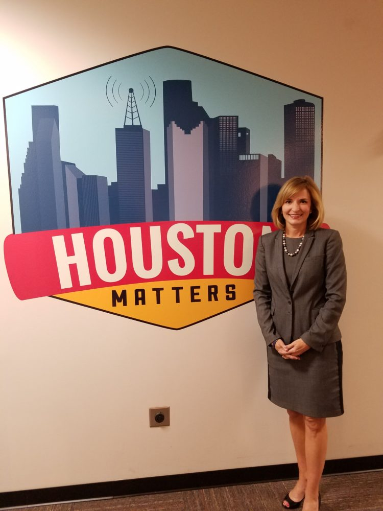 Harris County District Attorney Devon Anderson, at Houston Matters. She is seeking re-election against challenger Kim Ogg.