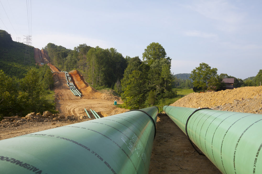 A large diameter pipeline construction by Houston-based pipeline company Spectra Energy.