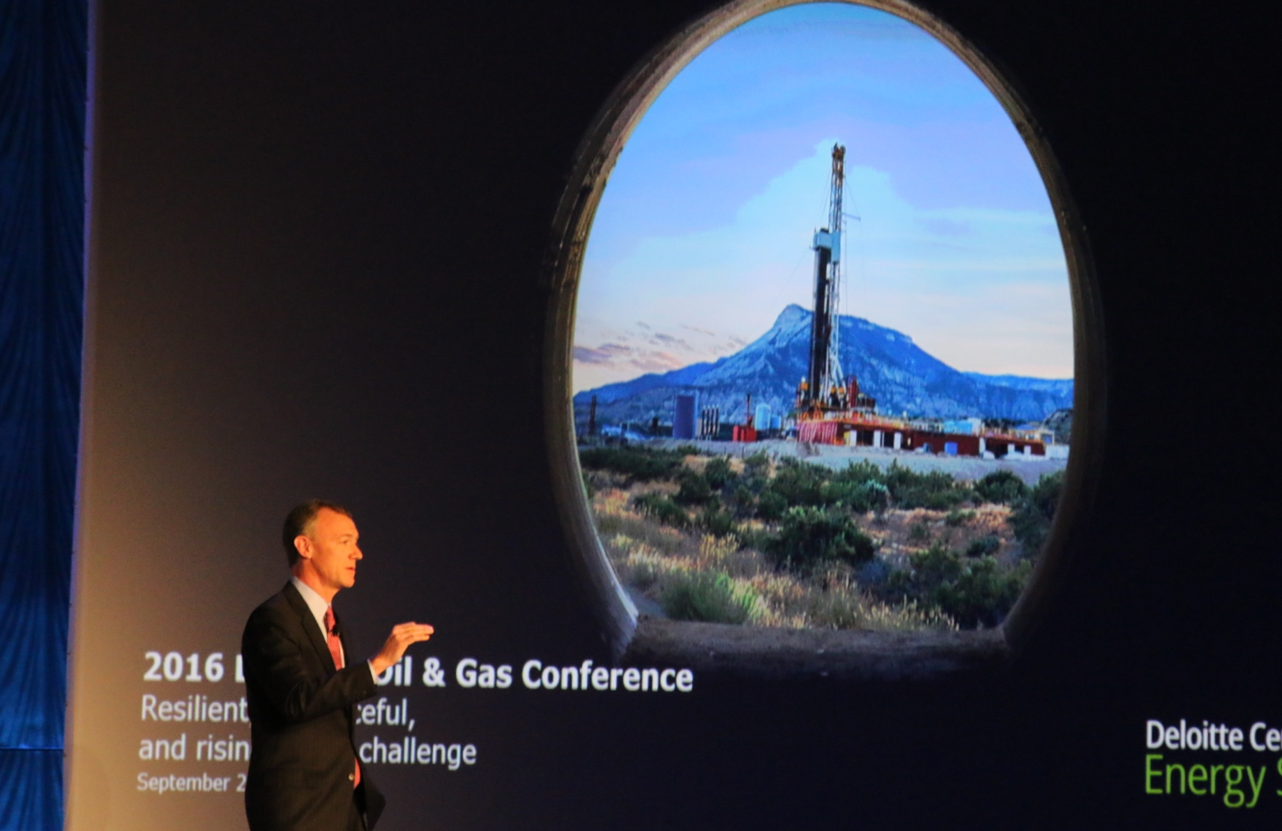 Deloitte's John England at Oil & Gas conference in Houston