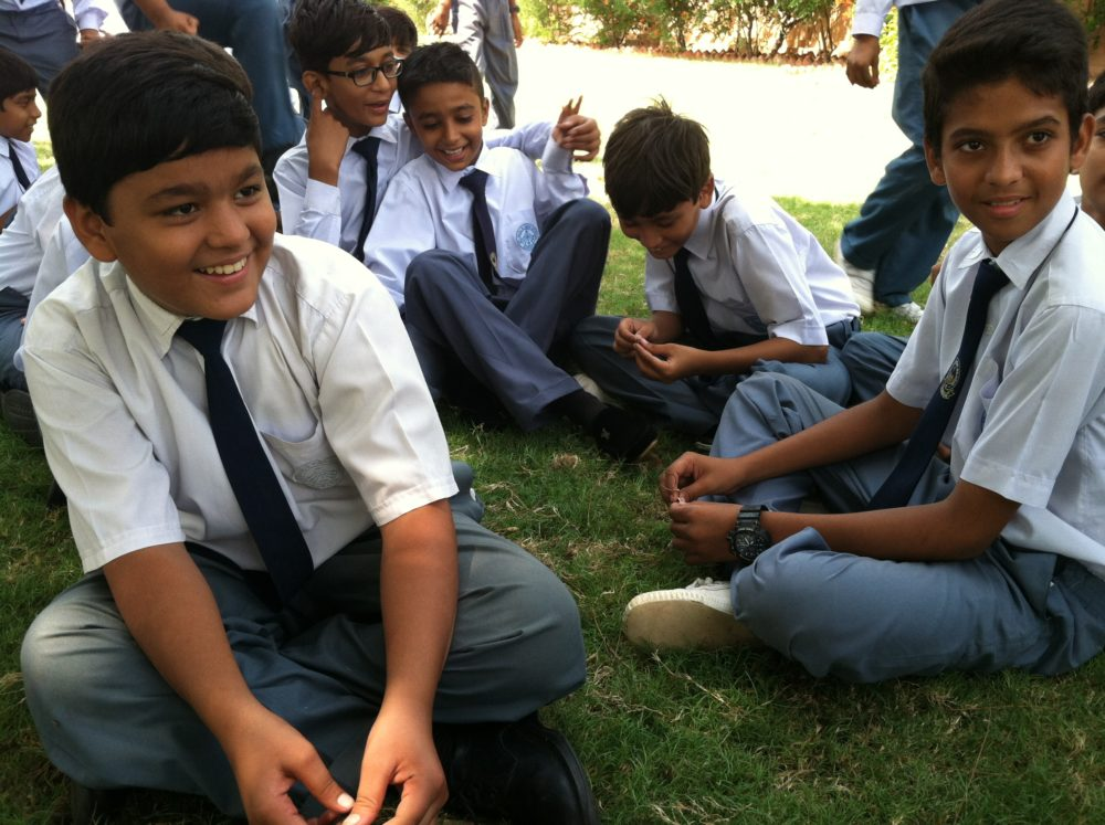 Sixth grade boys from a Catholic private school on a recent field trip to a museum in Karachi. They were there to learn more about the founder of Pakistan, Muhammad Ali Jinnah.