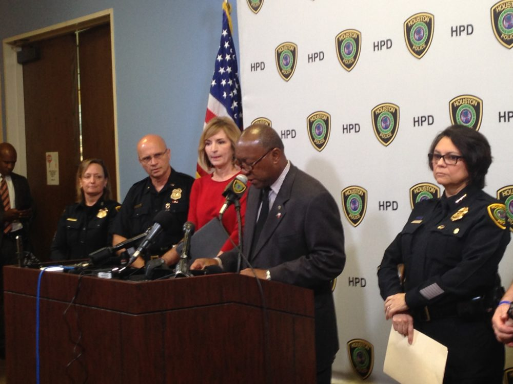 Houston Mayor Sylvester Turner announces the results of an investigation by the Houston Police Department about the sale of Kush on the city.
