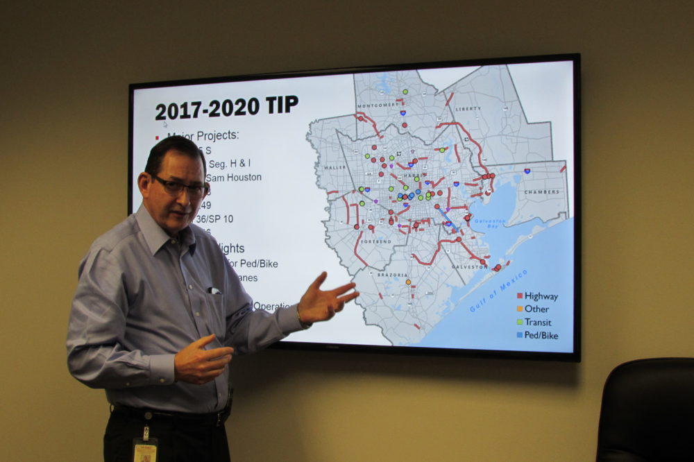H-GAC Director of Transportation Planning Alan Clark discusses projects that could be funded with new TxDOT money.