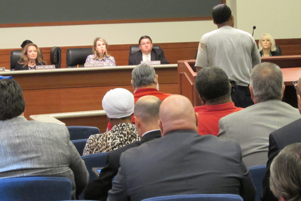 Metro board members hear public comment at their September meeting.