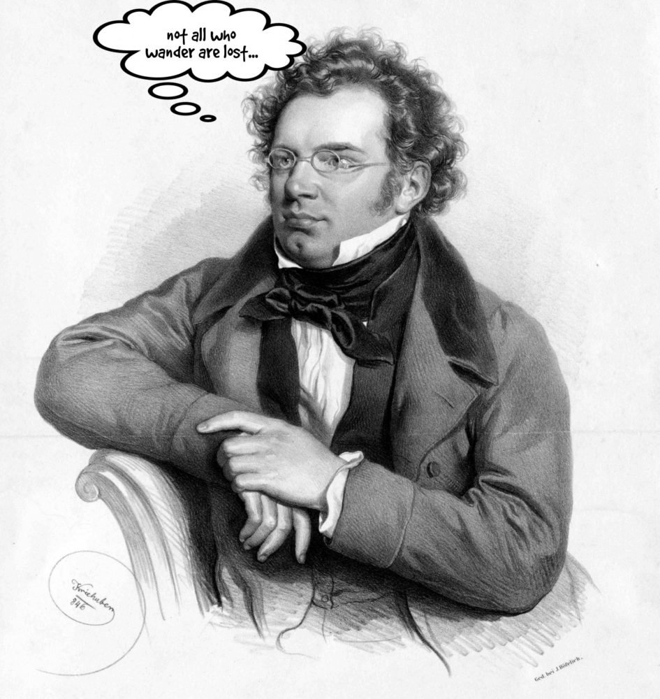 "Schubert pondering the ""Wanderer Fantasy"""