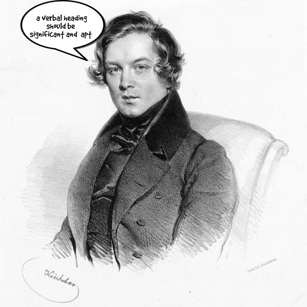 Robert Schumann, on titles