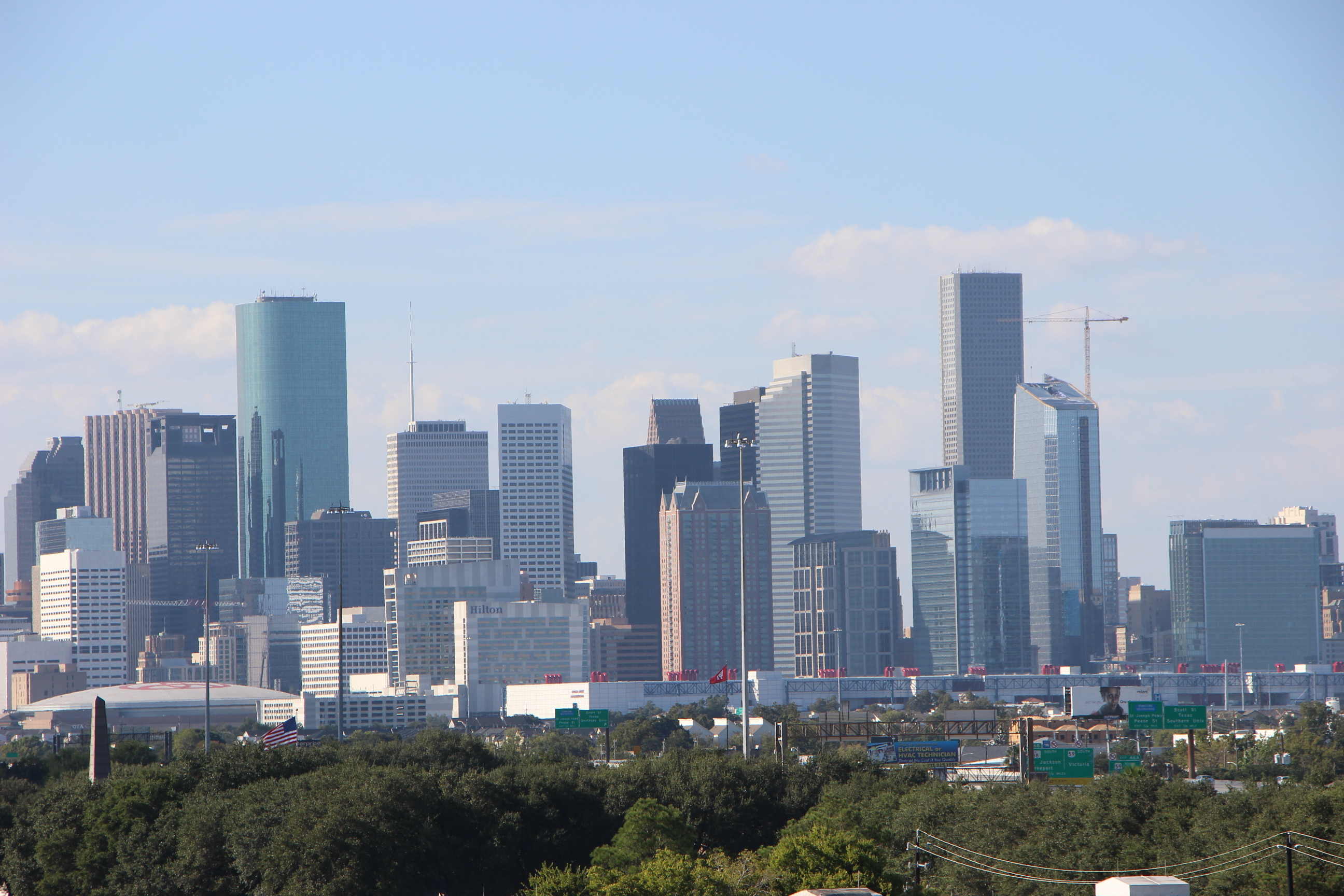 Houston skyline from HPM building roof.
