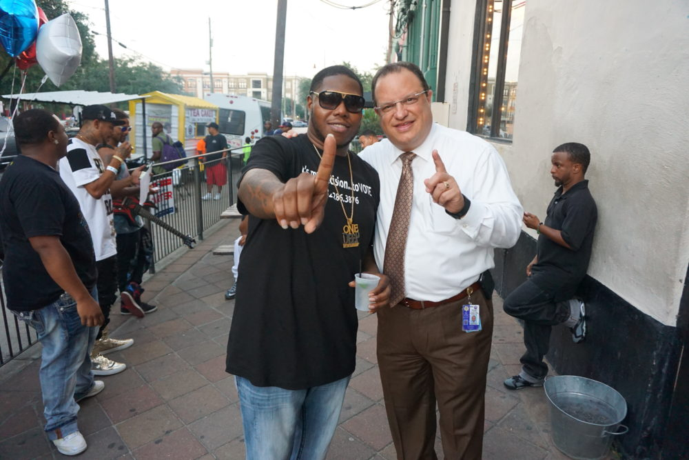 Precinct One Constable Allen Rosen and Rap Artist Z-Ro
