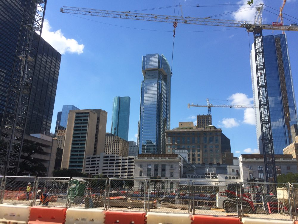 Photo of downtown construction