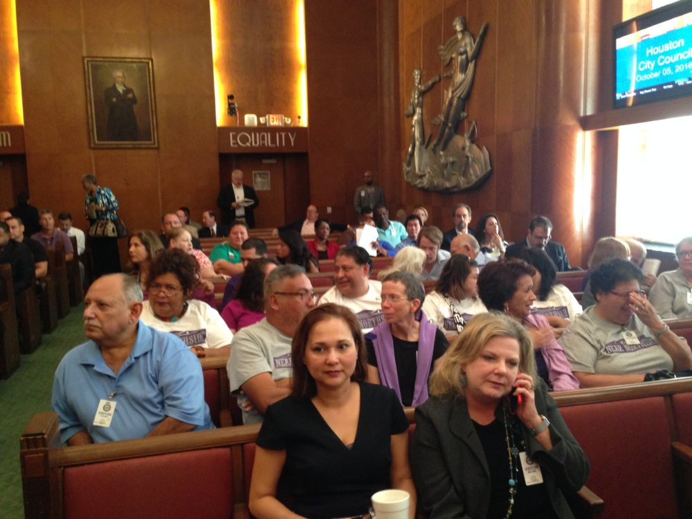 Several residents of Near Northside and other Houstonians who support a civility ordinance for that neighborhood attended the City Council meeting and asked its members to enact the measure.