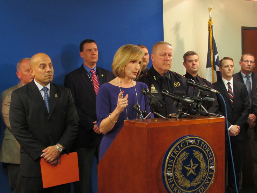 Harris County District Attorney Devon Anderson speaking at a 2015 news conference.