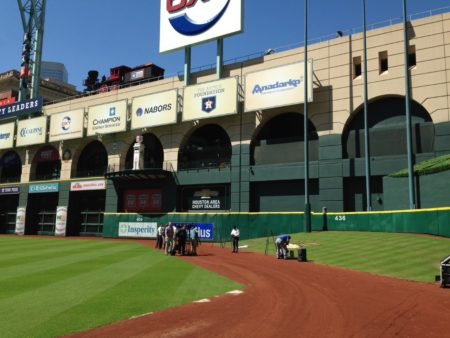 Tal's Hill at center field in Minute Maid Park.