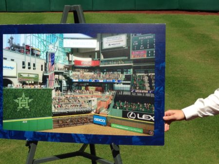 Plan showing improvements  to center field at Minute Maid Park.
