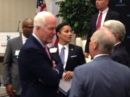 U.S. Senator John Cornyn addressed the Greater Houston Partnership to talk about bipartisan accomplishments this session.