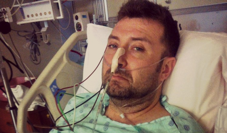 Houstonian John Gaspari in Ben Taub Hospital after being attacked on Valentine's Day 2015. (Image Courtesy: John Gaspari)