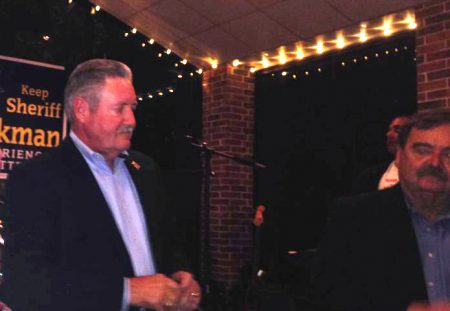 Ron Hickman delivered his concession speech around 10:30 p.m. at the north Houston event and wedding venue where he held his watch party.