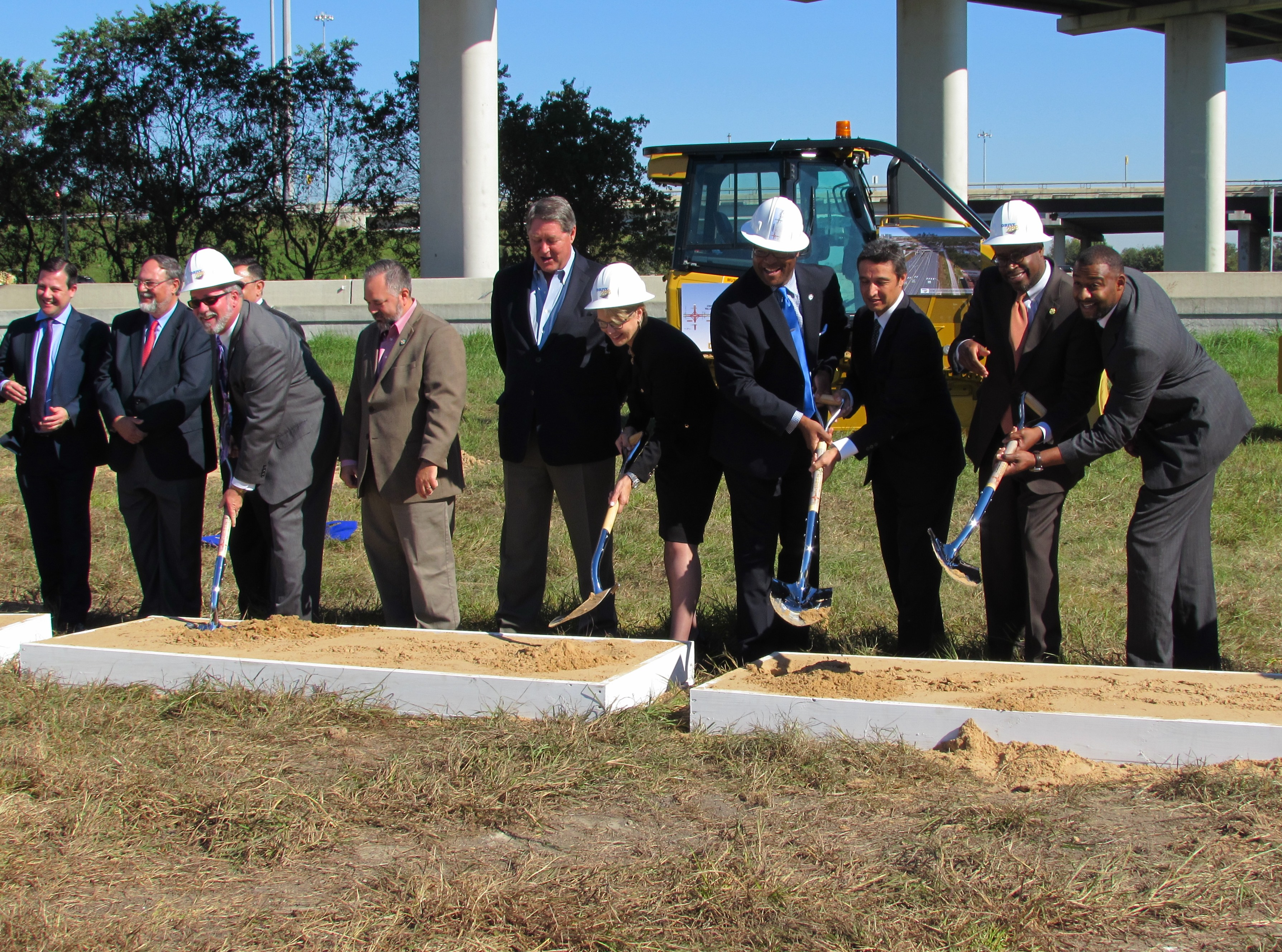Officials break ground for the new State Highway 288 Toll Lanes