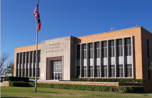 The Waller County Courthouse building.