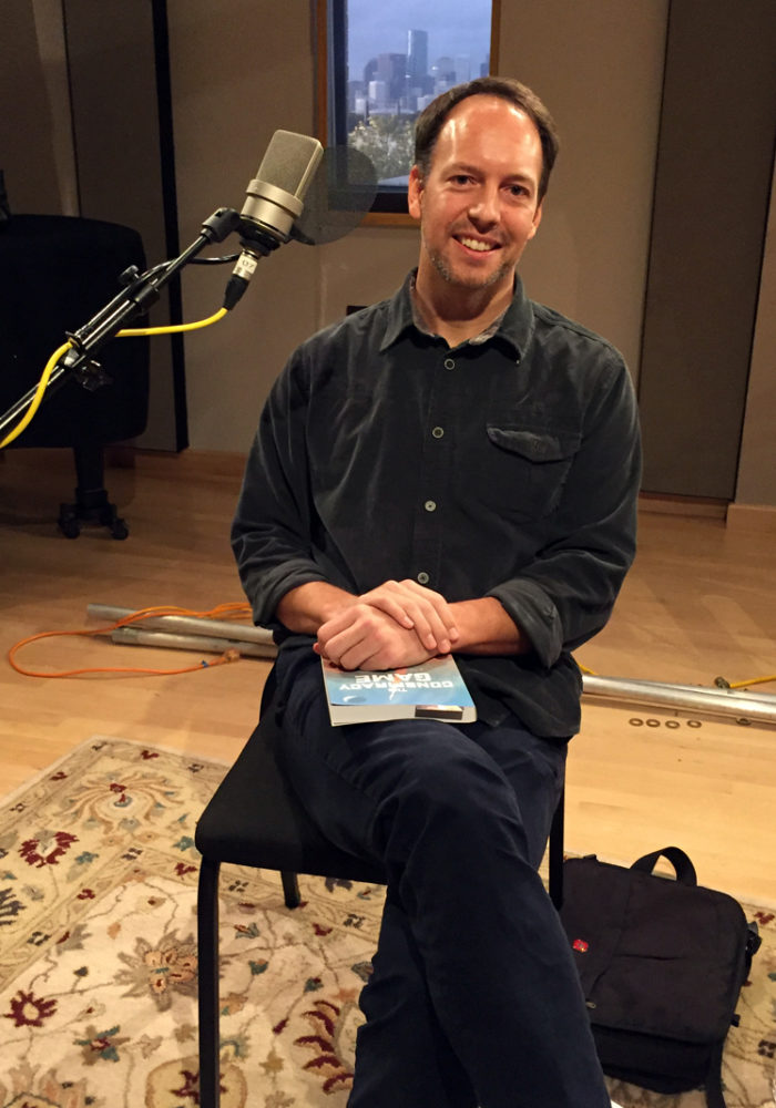 Writer Adam Holt in the Geary Studio