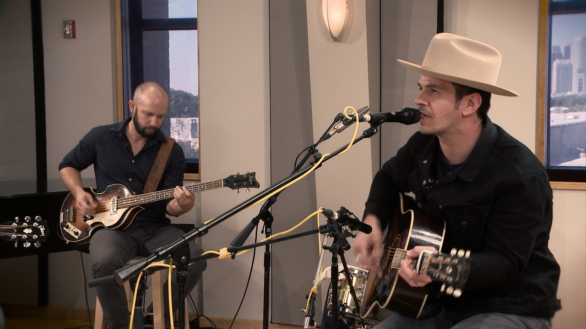 The Band of Heathens perform in the Geary Studio