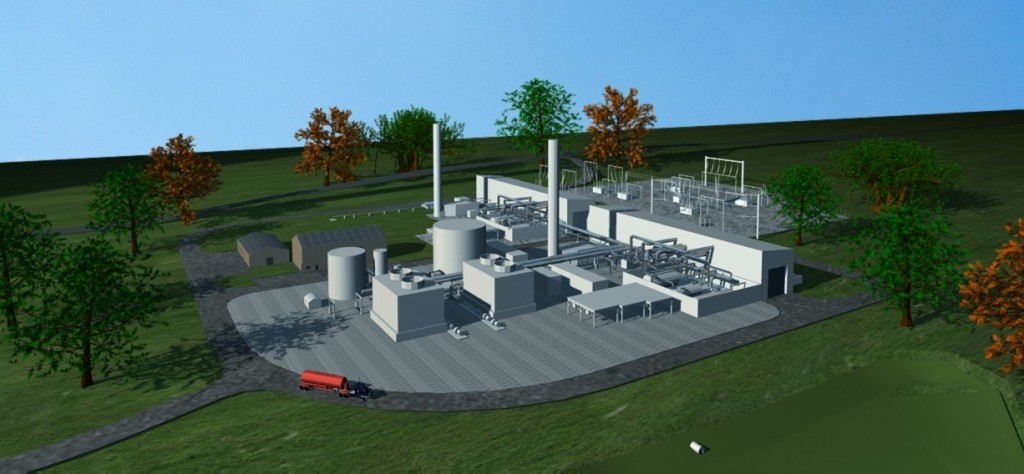 Artist rendering of proposed salt dome electricity storage project in Anderson County