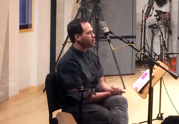 Author Joshua Foster in the Geary Performance Studio.