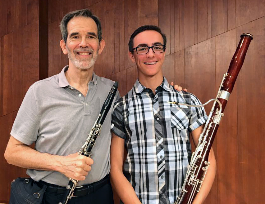 Artistic Director/Conductor Michael Webster and bassoonist Derek Marcum of the Houston Youth Symphony