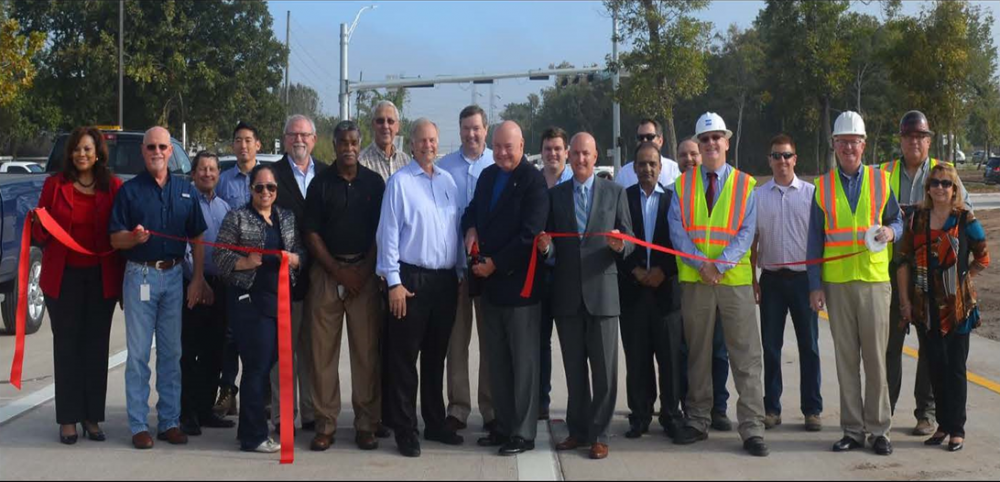 Fort Bend County officials cut the ribbon for the new Grand Parkway frontage road.