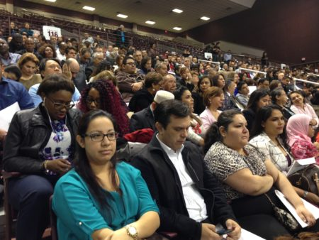 Hundreds of immigrants attended a citizenship ceremony held at the M.O. Campbell Educational Center, located in north Houston, on December 14th. They had different opinions about whether immigration rules and guidelines could become stricter under the Trump Administration.