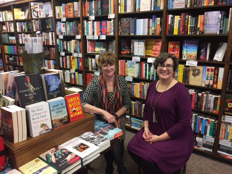 Blue Willow Bookshop's Valerie Koehler and Cathy Berner
