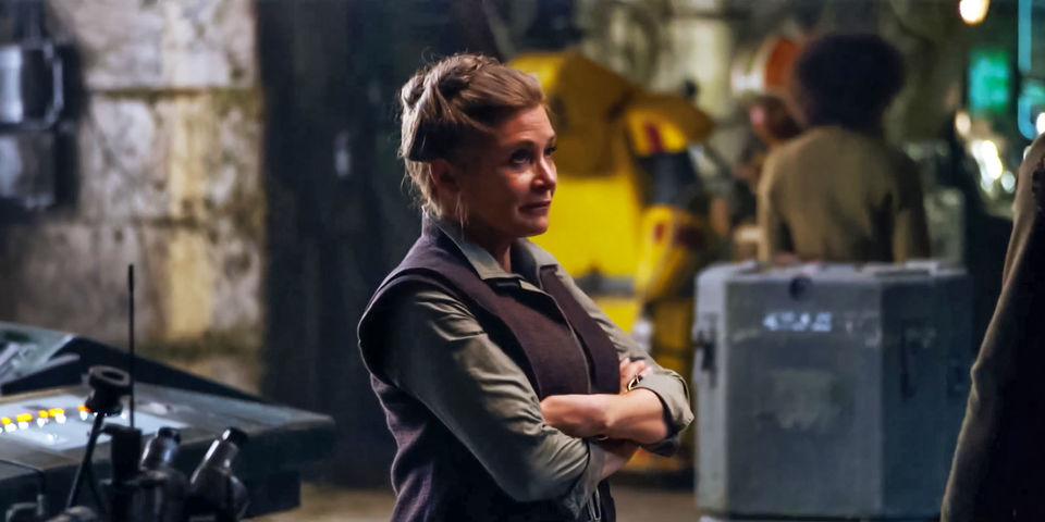 Carrie Fisher as General Leia Organa in 2015's The Force Awakens