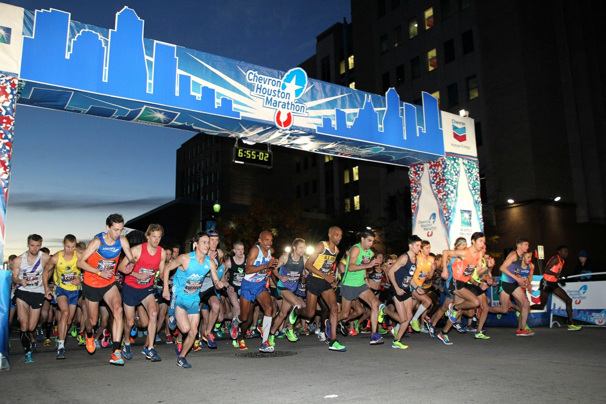 The start of the Chevron Houston Marathon on Jan. 18, 2015. (Photo: Andrew McClanahan, Courtesy Houston Marathon)