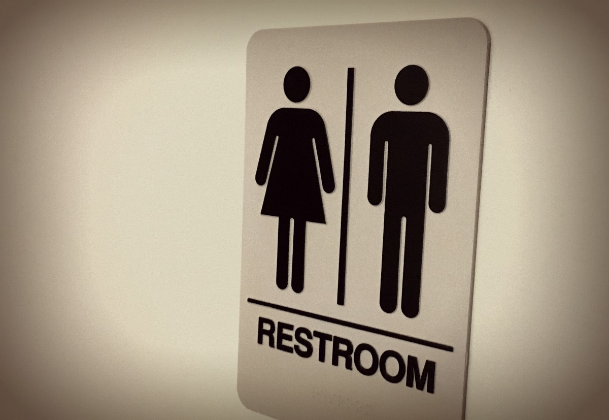 Bathroom Sign - Photo: Michael Hagerty, Houston Public Media