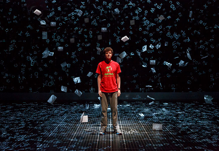 "Actor Adam Langdon as Christopher Boone in the touring production of ""The Curious Incident of the Dog in the Night-Time."" (Photo: Joan Marcus, Courtesy Hobby Center for the Performing Arts)"
