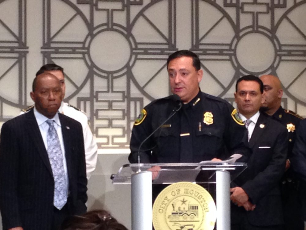 Houston mayor Sylvester Turner, HPD chief Art Acevedo and Harris County sheriff Ed Gonzalez took part in a press conference about the security plans for Super Bowl 51, which will be played in Houston next February 5th.