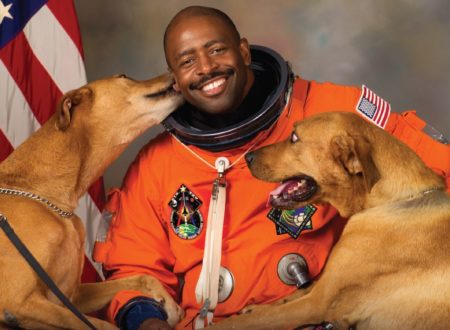 Former Astronaut Leland Melvin And His Dogs